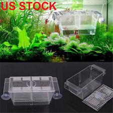 Aquarium Fish Tank Guppy Double Breeding Breeder Rearing Trap Box Hatchery Usa