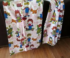 Vintage RAGGEDY ANN ANDY Doll FABRIC, Novelty Childrens, Over 6 Yards!  CUTE!