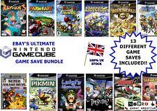 GAMECUBE Mario Kart + Super Smash Bros Melee MEMORY CARD 10 GAMES FULLY UNLOCKED