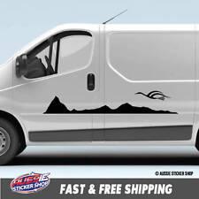 6X VAN CARAVAN STRIPES MOUNTAIN BIRD Sticker Decal Side Vehicle Boat Waterpro...