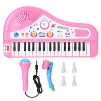 37 Keys Music Electronic Keyboard Kid Electric Piano Organ W/Mic & Adapter