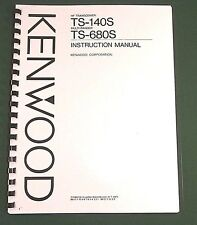 Kenwood TS-140S Instruction Manual - Premium Card Stock Covers & 32 LB Paper!