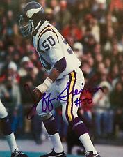 JEFF SIEMON #50 Minnesota Vikings Great Signed 8 X 10 PHOTO W/COA