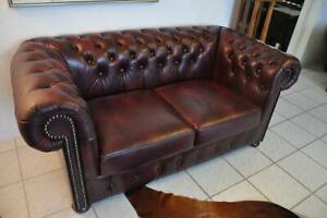 Chesterfield Devon XL 2,5 Sitz Sofa  Leder Narben Leder E1000