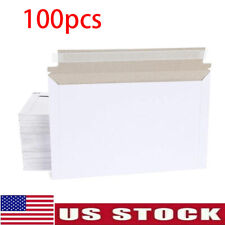 Pack of 100 Rigid Shipping Mailers Paper Envelopes Bags W/Self-adhesive Strip