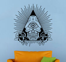 All Seeing Eye Wall Decal Illuminati Sign Vinyl Sticker Wall Mural Home Decor 23