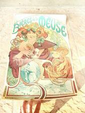 belle Affiche Bières de La Meuse de Mucha, Alphonse 60 x 39cm