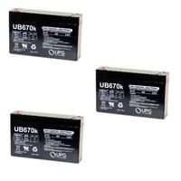NEW 3 PACK UPG UB670 6V 7AH SLA Replacement Battery for CSB HRL634W