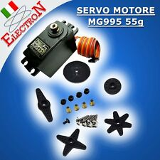 SERVO MOTORE MG995 55g TOWER PRO + INGRANAGGI IN METALLO COPPIA 15KG ARDUINO