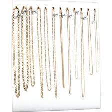 12 Hook White Chain Necklace Display Jewelry Easel