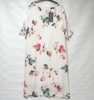 NEW POMODORO MULTI COL TULIP SHIFT DRESS LINED UK10 RRP £80