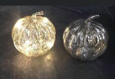 Glass LED Light Up Pumpkin BNWT battery operated Halloween 🎃