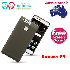 TPU GEL Jelly Case Cover for Huawei P9 Smoke Black SP