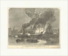 Brand della fregata Novara nel porto di Pola AML 3. maggio Perko legno chiave e 11671