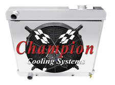 "3 Row Perf Champion Radiator W/ 16"" Fan and Shroud for 1961 1962 Oldsmobile 88"