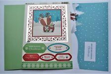 Kanban Christmas Buddies Reindeer Die Cut Foiled Toppers,Card, Insert Kit 54432