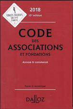 code des associations et fondations 2018  annoté et commenté (10e édition)