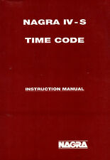 NAGRA IV-S TC (TIME CODE) INSTRUCTION MANUAL!! ON ONE CD ! TOP !!!