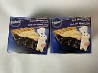 2 PILLSBURY FRESH BLUEBERRY PIE SCENTED CANDLE 3 OZ NEW