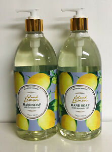 2 Bottles Clean & Beauty Co. ~ Island Lemon Hand Soap w/ Lavender Oil 25 oz Each