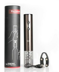Electric Wine Opener, Automatic Electric Wine Bottle Corkscrew Opener with Foil
