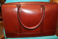 Sturdy Leather Document / Brief Case, Brown, Levenger/ England/ Free Shipping