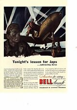 Bell Aircraft ad WWII ,1943 mag. 1214 for Airacobras fighter plane