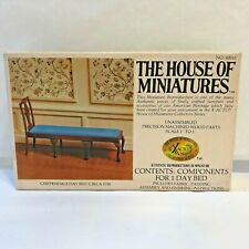 X-ACTO HOUSE OF MINIATURES Wood DollHouse Chippendale Day Bed Kit #40043