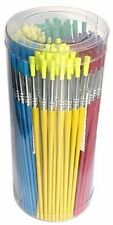 Cepillo principales Tina de 144 Cepillos de pintura de colores surtidos Escuela Pack 598-144