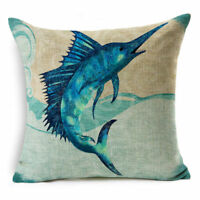 Sea Animal Pattern Cover Case For Throw Pillow Cushion Home Bedding Decoration