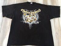 Reebok Mens 2X New Orleans Saints 2010 Super Bowl XLIV Champions T-Shirt Black *