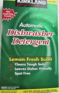 Kirkland Signature~100 oz~Automatic Dishwasher Detergent~Lemon Scent~6.2% phosph