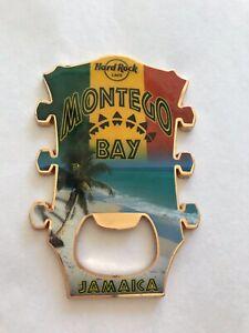 Hard Rock Cafe HRC Montego Bay Jamaica Guitar Head Bottle Opener Magnet NWT
