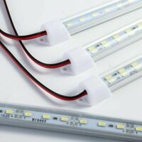 24/48 LED Strip Light LED Tube Light Bar Hard Rigid White For Car 12V/24V