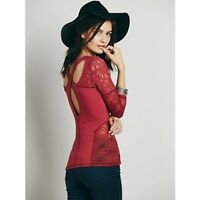 """FREE PEOPLE """"SWEET THANG"""" TOP IN RED. Size M"""