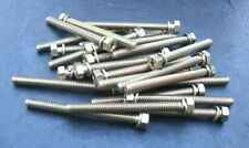 1/4-20 x 2-3/4 Phillips 3/8 Hex Head Bolts Lot of 25 Bolt Plated Steel