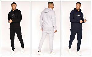 Bench Logo Mens Long Sleeve Sustainable Hoodie Sweatshirt - Black / Navy / Grey