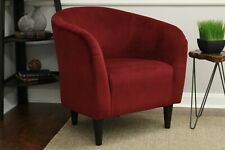 Microfiber Comfortable Deep Seat Tub Accent Chair Versatile Easy Cleaning, Red
