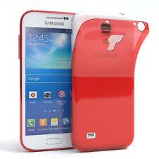 Für Samsung Galaxy S4 Mini durchsichtige Schutzhülle Handyhülle Back Cover Rot