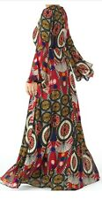 Boho Dress Print Dress Hippie XXL Maxi Dress 70s Evening Plus Size Modest Winter