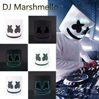 DJ-MarshMello LED Mask Helmet Costume Rave Cosplay Bar Music Props Halloween