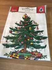 Spode Christmas Tree Bib Apron Front Pocket Cotton New in Package