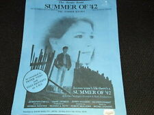 """Vintage 1971 Orig. Sheet Music- Theme Summer Of '42-"""" The Summer Knows"""" Oop"""