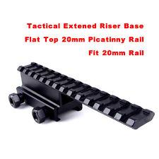 143mm Extened Flat 20mm Picatinny Weaver Rail Riser Base Adapter Scope Mount