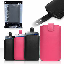 Caseflex Accessories Various Samsung Phones PU Leather Pull Tab Pouch Case Cover