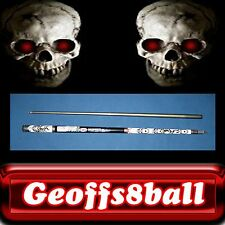 """DEATH"" POOL SNOOKER CUE 2 Piece Graphite Composite SKULL GRAPHICS Must See !!"