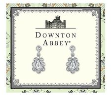 Downton Abbey Silver Tone Crystal Drop Earrings 17685 Free Shipping