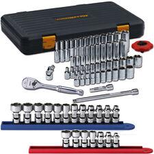 "GearWrench 80300PFS 1/4"" Dr 51 Pc Std/Deep SAE/Metric Socket Set w/Flex Sockets"