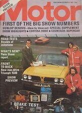 Motor 13/10/1973 featuring Ford Cortina road test, Hartwell Hillman, Lamborghini