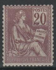 """FRANCE STAMP TIMBRE N° 113 """" TYPE MOUCHON 20c BRUN-LILAS """" NEUF xx LUXE M560"""